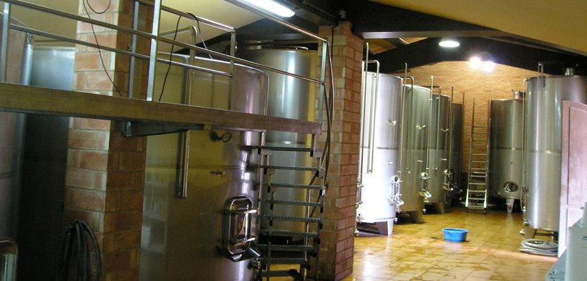 Hacienda Grimon, Rioja DOCa, Tanks in der Bodega